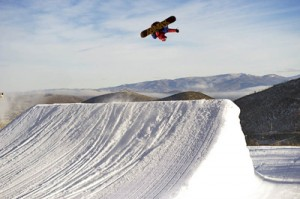 Mac Spedale, filming for I Ride Park City.